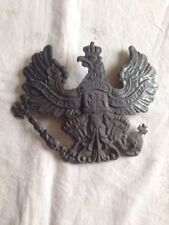 Aigle Prussien, plaque Prussienne  en fer  de casque à pointe en reproduction