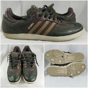 Adidas-Samba-Hemp-Army-Olive-Green-Leather-Natural-Rasta-Homme-Marron-Size-12