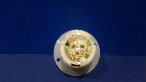 Replacement Flanged Inlet 15 Amp 125 Volt Male Twist Lock 3 Wire Nema L5-15P