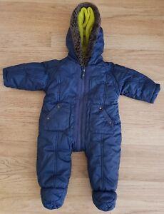 5e74fdda1 TED BAKER Baby Boys Snowsuit Pramsuit All In One Padded Age 3-6 ...