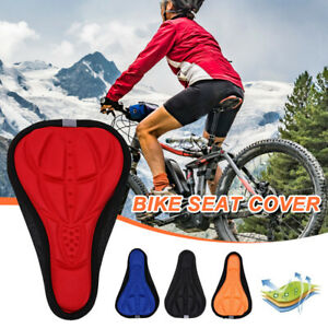 Bike Bicycle 3D Mountain Gel Silicone Saddle Seat Cover Pad Soft Cushions Padded