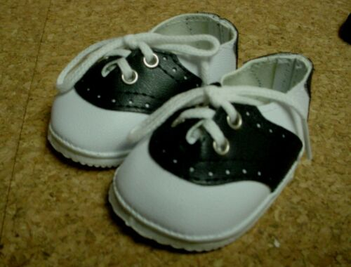 *Galoob Baby Face Doll Shoes 72mm B//W Saddles 4 American Girl 20/% Off