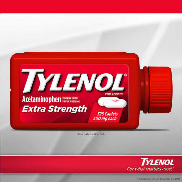 TYLENOL Extra Strength Acetaminophen 500mg 325 Caplets Pain & Fever Reducer