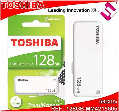 128gb Pendrive Toshiba Memoria 2.0 Penna Drive Matita Usb Retrattile