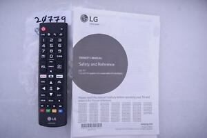 Details about LG 43UK6300BUB AKB75375604 REMOTE CONTROL & OWNERS MANUAL  20779