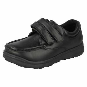 6 UK Boys Black Harry Potter 2 Strap School Shoes Sizes 12Jnr