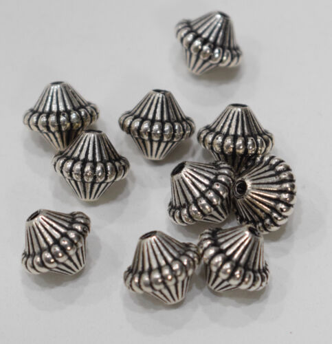 20mm Beads Silver Etched Fluted Cone Beads 19mm
