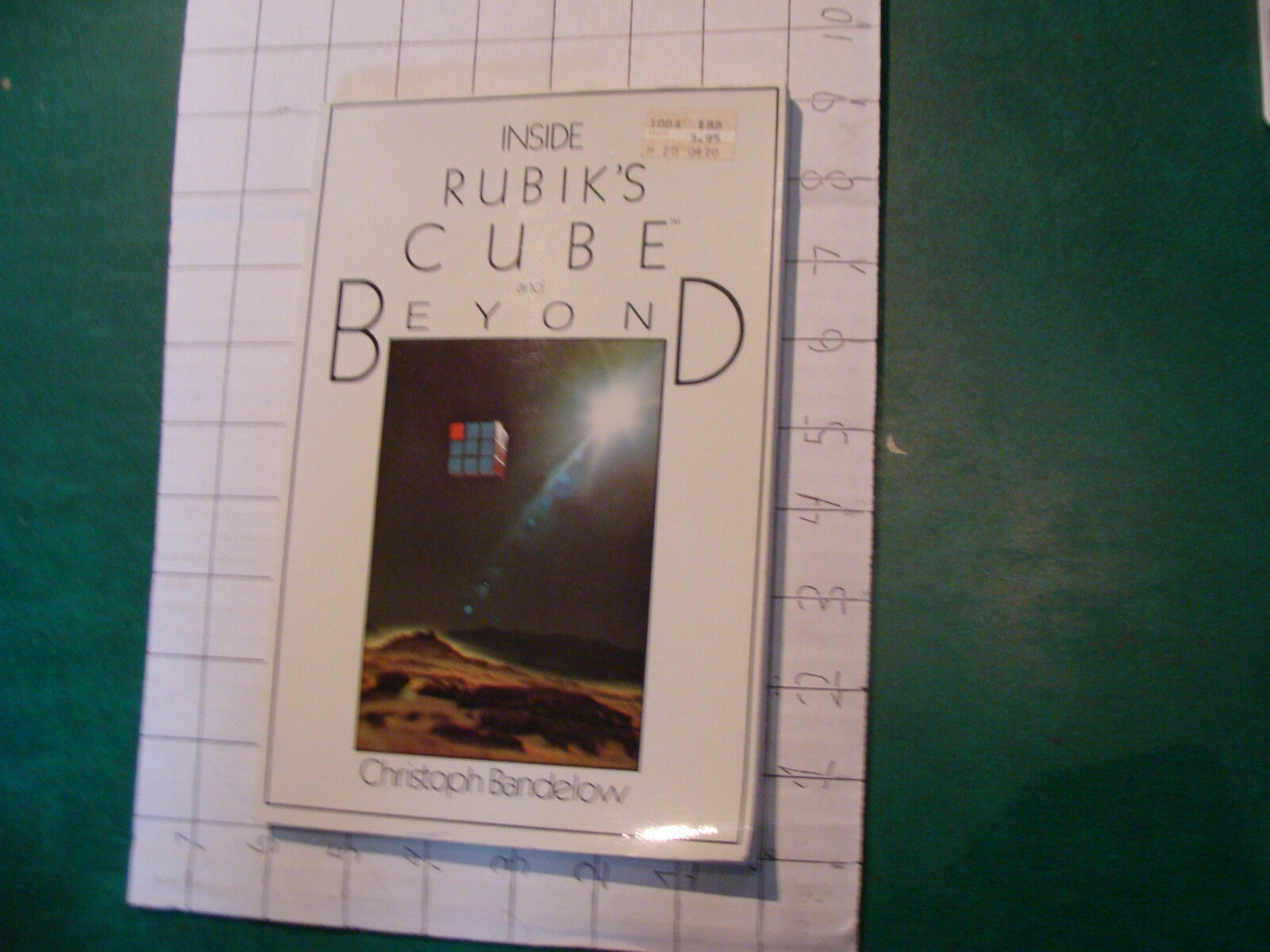 UNREAD Rubik Book  INSIDE RUBIK'S CUBE and BEYOND christoph Bandelow 1982, 120pg