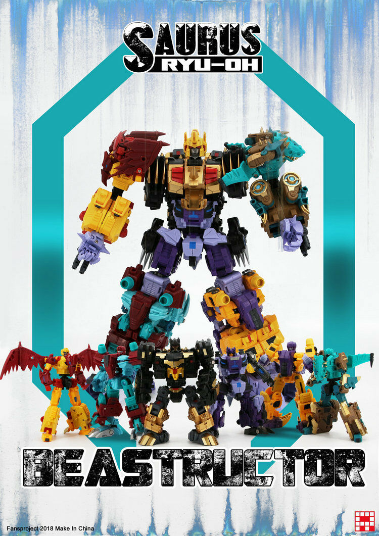 [Toys Hero] In hand Transformers Fansproject FPJ RYU OH G2 Dino king Combiner