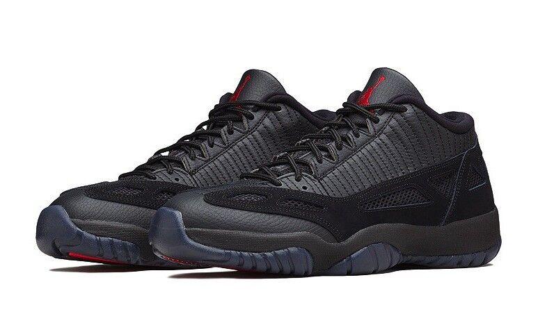 Nike air jordan 11 xi retrò bassa dimensione nero 3.5-18 ie gatto nero dimensione di razza 306008-003 arbitro 73122e