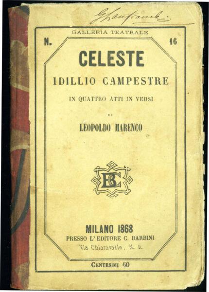 Colto Galleria Teatrale Italian Theatre Gallery-celeste Idillio Campestre Marenco 1868