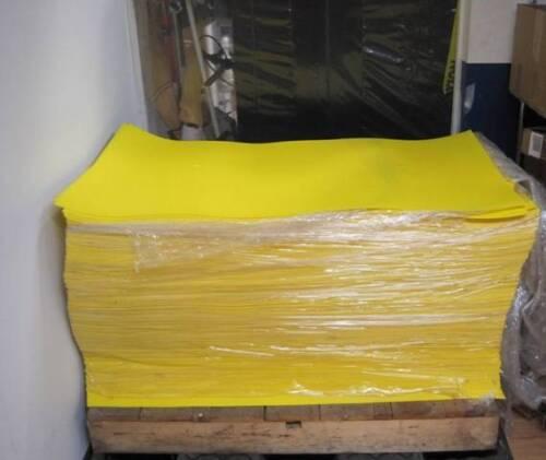 "New LOT OF 5 Yellow Plastic Styrene Sheet 48/"" x 26/"" x .025/"" Translucent 40 sq.ft"