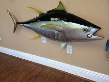 "FRESH AHI! - 55"" Yellowfin Tuna Half Mount Fish Replica"