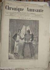 LA CHRONIQUE AMUSANTE du 18/10/1891 ° CARICATURES BENJAMIN RABIER/JACK ABEILLE