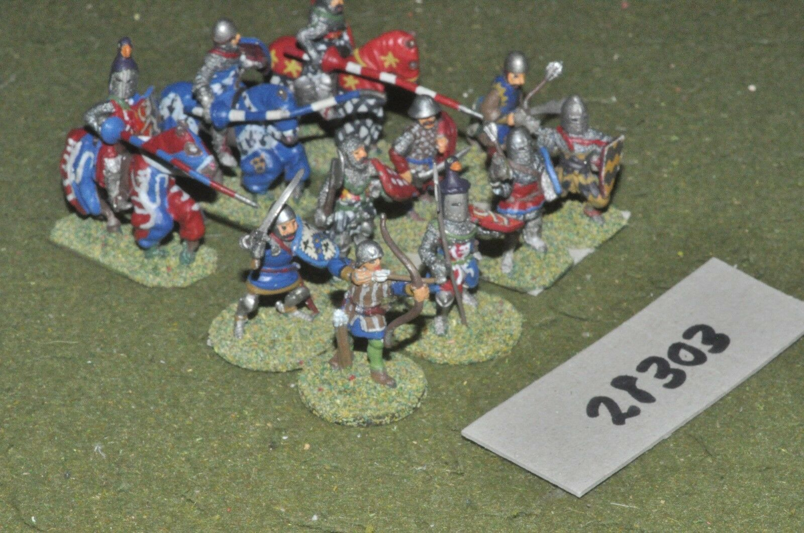 25mm medieval   english - battle group 11 figures - inf (28303)