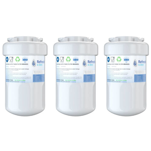 by Refresh 3 Pack Replacement For GE GSHS6KGZBCSS Refrigerator Water Filter