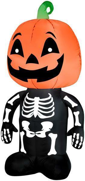 Outdoor Airblown Halloween Decor Eerie Animated Dancing Pumpkin Skeleton Boy For Sale Online Ebay