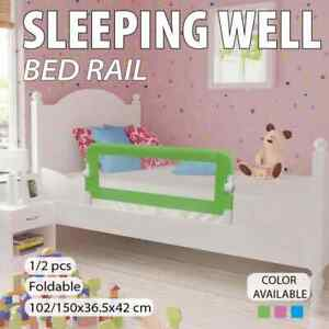 vidaXL 1/2x Toddler Safety Bed Baby Rail Guard Gate Multi Colours 102/150cm
