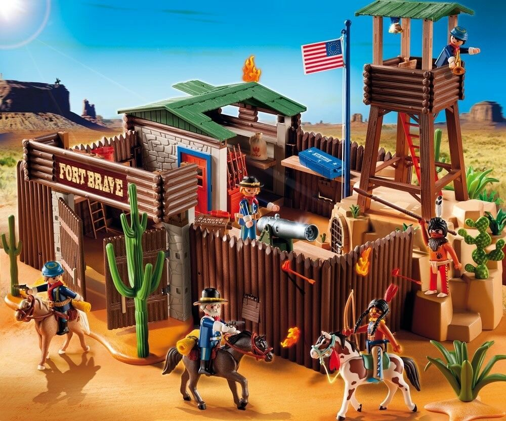 PLAYMOBIL 5245 - Grand fort des soldats neuf
