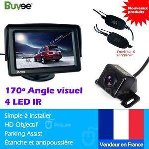 Voiture-Camera-de-recul-4-3-039-039-Voiture-Vue-arriere-Moniteur-LCD-Sans-fil