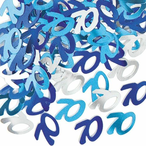 70th Birthday Decorations Hanging String Ceiling Party Room Wall Confetti Banner