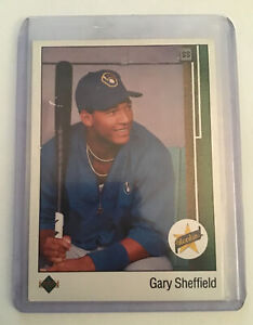GARY SHEFFIELD 1989 Upper Deck UD Baseball Star ROOKIE RC Card #13 - BREWERS