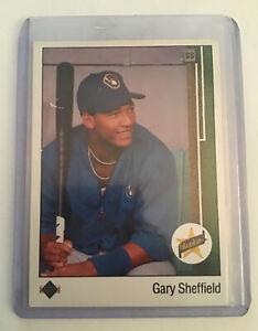 GARY SHEFFIELD 1989 Upper Deck UD Baseball Star ROOKIE RC Card #13 - BREWERS