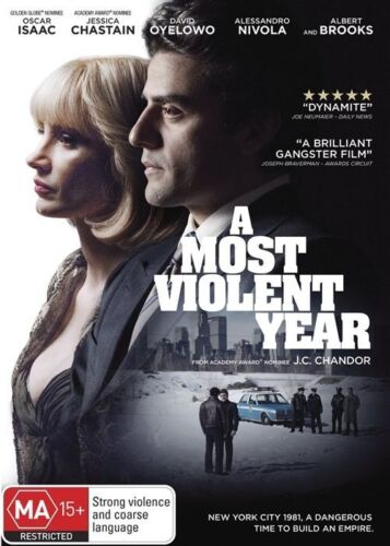 1 of 1 - A Most Violent Year (Dvd) Crime, Drama, Thriller, Oscar Isaac, Jessica Chastain