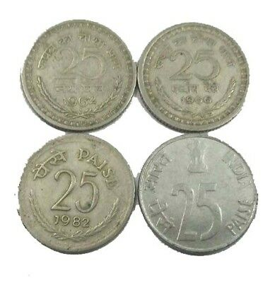 7 PIECE UNCIRCULATED 1980/'S COIN SET INDIA 5 TO 50 PAISE