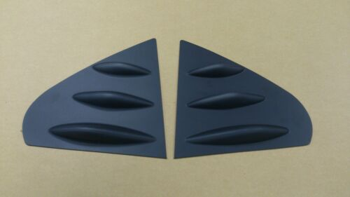 MITSUBISHI Lancer Fortis 08-16 Window Deflector Side Cover Fins Primed Black