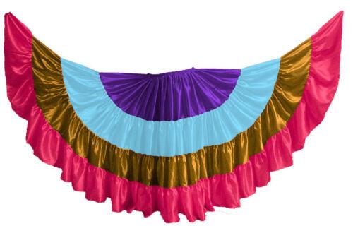 Multi Color Satin 12-16-25-32 Yard 4 Tier Skirt Belly Dancing GYPSY Flamenco