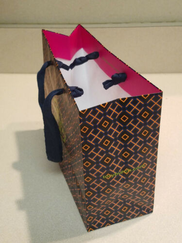 "NEW! Authentic Tory Burch Logo Empty Shopping Paper Gift Bag 9/"" x 7/"" x 3.5/"""