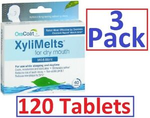 Xylimelts-Dry-Mouth-Discs-MILD-MINT-40ct-3-pack-120-tabs-Always-FRESH