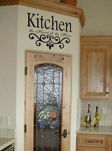 inspirational ideas for kitchen designs wall decor | Kitchen Wall Quote Vinyl Decal Lettering Decor Sticky | eBay