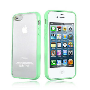 Green-Hard-MATTE-PC-amp-Soft-GEL-Cases-Cover-for-Apple-iPhone-4-4S-4G-4GS
