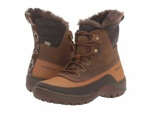 LADIES-MERRELL-LEATHER-SYLVA-MID-LACE-UP-WATERPROOF-WARM-WALKING-BOOTS-UK-3-8