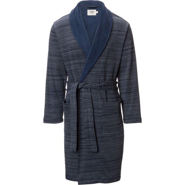 NWT UGG AUSTRALIA Men s ROBINSON Shawl Collar PLUSH Bath Robe BLUE L XL   145! 04ad8c25b