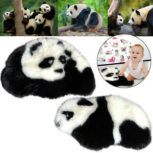 Home-Cute-Panda-Rug-Mats-Hairy-Carpet-Plain-Fluffy-Bedroom-Kids-Baby-Play-Mat