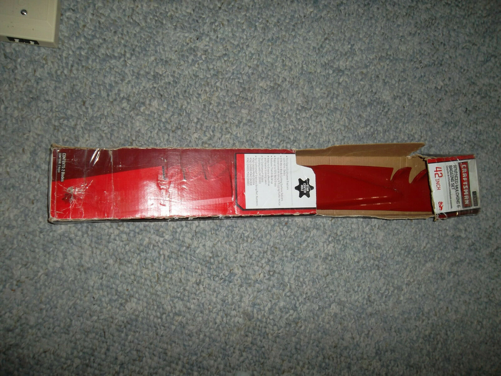 "Set of 6 Sears Craftsman 42/"" Gator Style Mulching Mower Blades FREE Shipping"