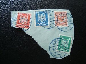 Germany-4-Cancelled-Stamps-Perforated-A39