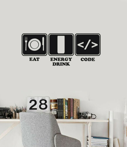 ig5819 Details about  /Vinyl Wall Decal Programmer Lifestyle Funny Programming Art Stickers