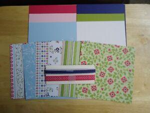 Stampin-Up-CHEERFUL-TREAT-6-x-6-Designer-Paper-Card-Kit-Ribbon-RARE