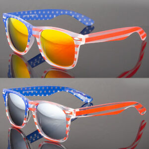 9de87dd8942 Image is loading Patriotic-Sunglasses-American-Flag-USA-Lens-Star-Stripe-