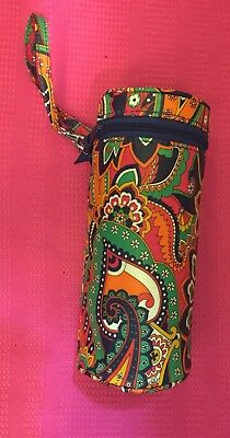 2019 New Style Pre-loved Vera Bradley Venetian Paisley Baby Bottle Caddy Wristlet Bag Durable In Use