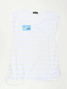 Hotswing-Womens-Size-M-Striped-White-Top-Regular