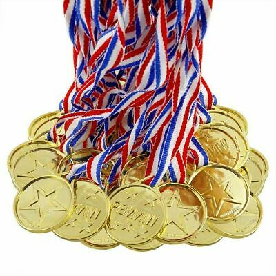 5 gold winners medals party bag toys//filler//school sports day//