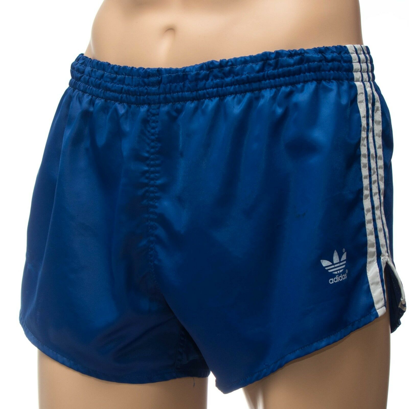 ADIDAS Glanz Nylon Vintage Shorts - Made in West-Germany - blue  Gr 6 (1477)