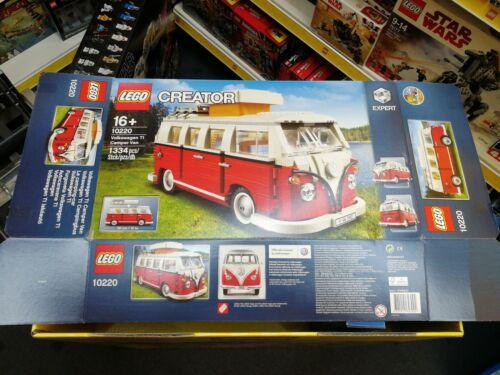 LEERKARTON LEGO Creator Volkswagen T1 Campingbus 10220 VACíA VIDE Box only