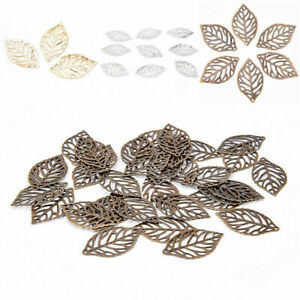 50Pcs-Leaves-Filigree-Accessories-Metal-Crafts-Connector-For-DIY-Jewelry-Making