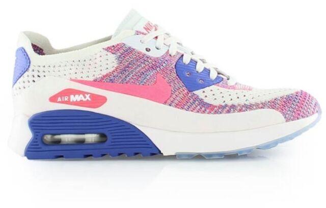 wholesale dealer b6cea 5c7a8 Nike Air Max 90 Ultra 2.0 Flyknit UK 7 Bnib White Racer Pink Blue 881109 103